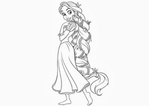 Rapunzel Coloring Pages Free Printable   K2RWW