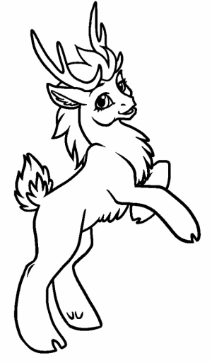 Reindeer Coloring Pages Online   54671