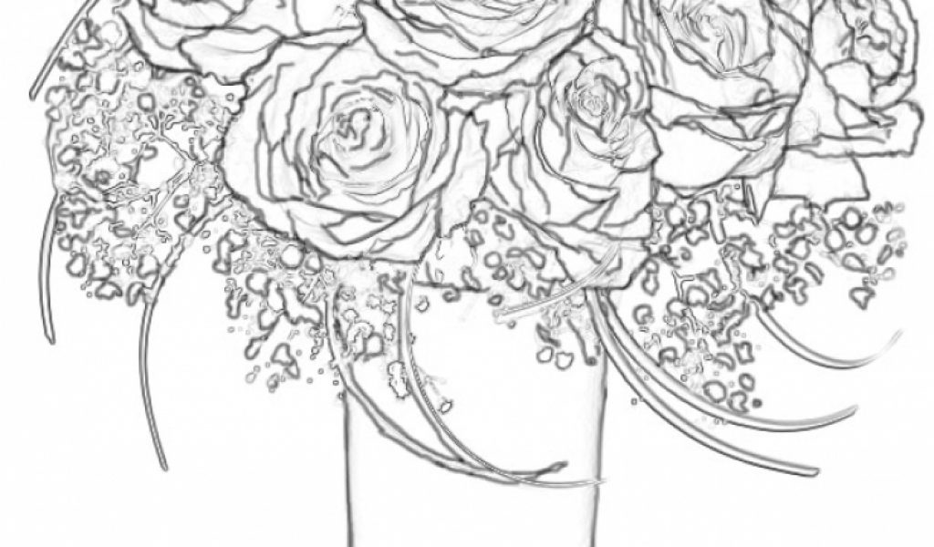 Get This Roses Coloring Pages For Adults Free Printable 9466
