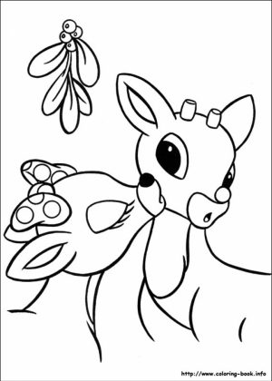 Rudolph Coloring Page Online Printable   B6QSA
