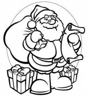 Santa Coloring Page Free Printable   22398