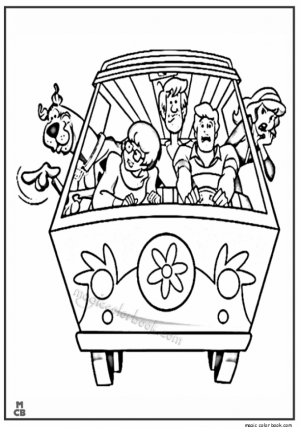 Scooby Doo Coloring Pages Free Printable   67533