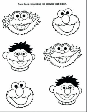 Sesame Street Characters coloring pages   uvbt5