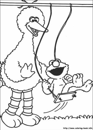 Sesame Street Coloring Pages for Toddlers   mv7l2