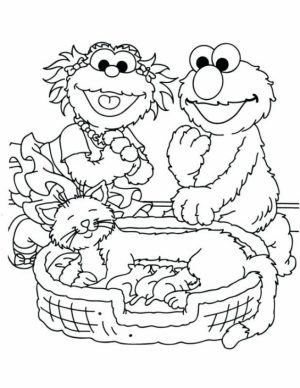 Sesame Street Coloring Pages Kindergarten   62195