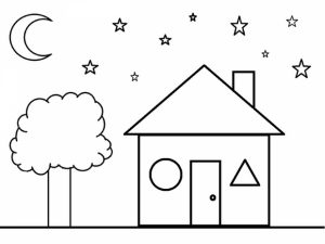 Shapes Coloring Pages Free for Kids   e9bnu