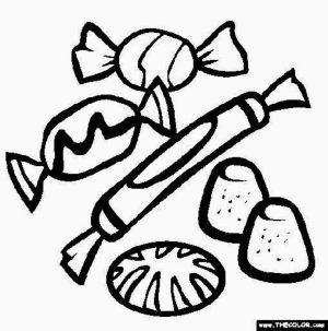 Simple Candy Coloring Pages to Print for Preschoolers   cdsxi