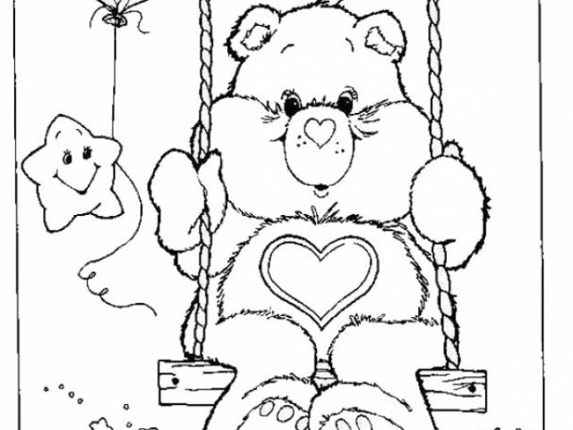 Get This Simple Care Bear Coloring Pages to Print for Preschoolers