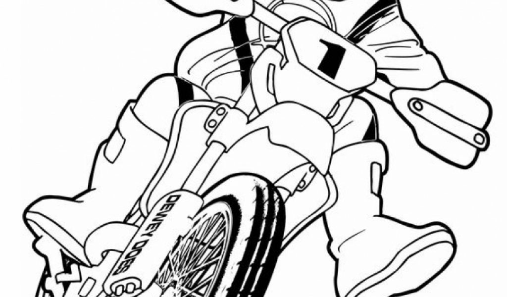 Get This Simple Dirt Bike Coloring Pages to Print for