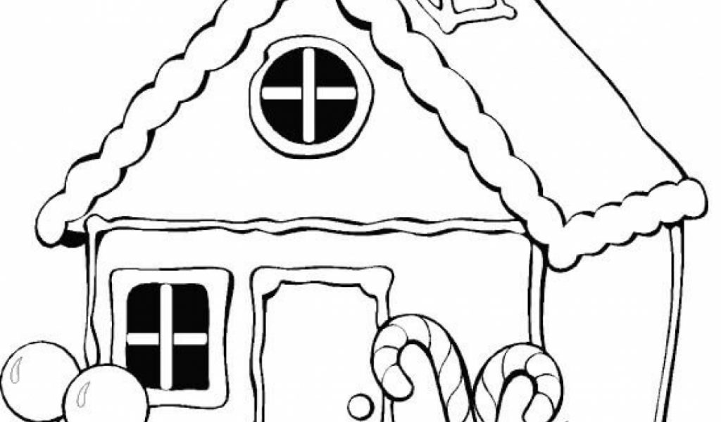 Get This Simple Gingerbread House Coloring Pages To Print For Preschoolers Kbld1