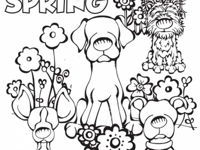 Get This Simple Spring Coloring Pages to Print for ...