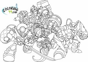 Skylander Coloring Pages Kids Printable   16642