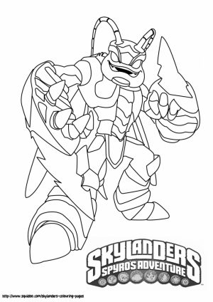 Skylander Coloring Pages Printable for Kids   84629