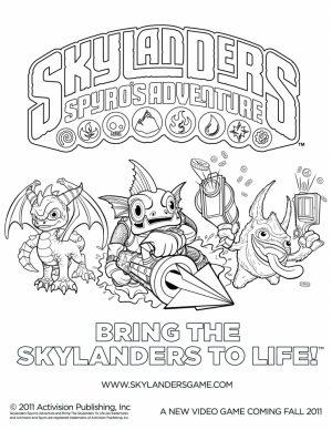 Skylander Coloring Pages to Print Online   26718