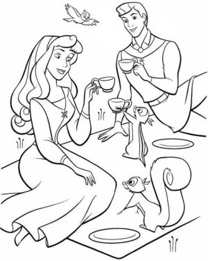 Sleeping Beauty Coloring Pages Disney Princess   2twabl