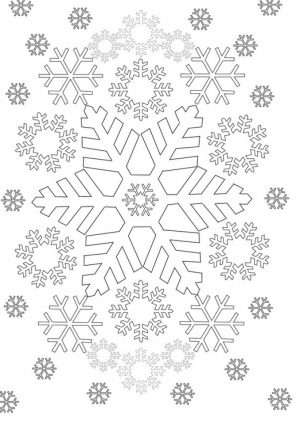 Snowflake Coloring Pages for Preschoolers   47571
