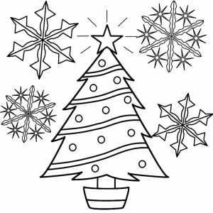 Snowflake Coloring Pages for Preschoolers   64850
