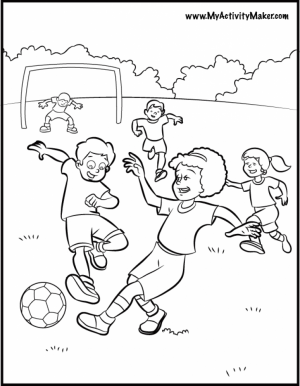 Soccer Coloring Pages Free   3gdmr