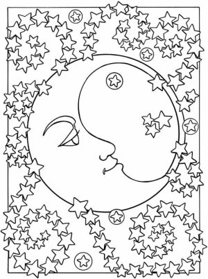 Space Coloring Pages Adults Printable   PDW44