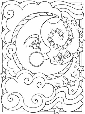 Space Coloring Pages Adults Printable   SPD63