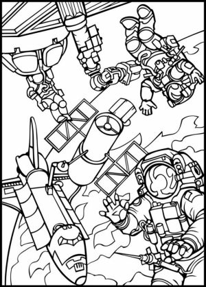 Space Coloring Pages for Adults   PRT24