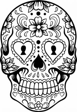 Sugar Skull Coloring Pages for Adults   21649