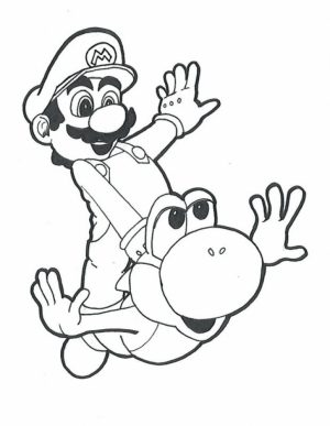 Super Mario coloring pages free printable   tgwm7