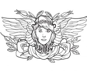 tattoo design coloring pages – 64562