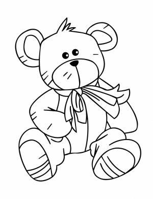 Teddy Bear Coloring Pages Kids Printable   0gjr8