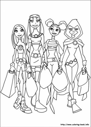 Teen Titans Coloring Pages to Print Online   K0X5s