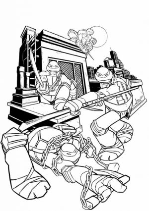 Teenage Mutant Ninja Turtles Printable Coloring Pages for Boys   21746