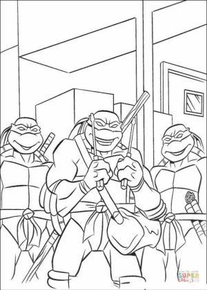 Teenage Mutant Ninja Turtles Printable Coloring Pages for Boys   31709