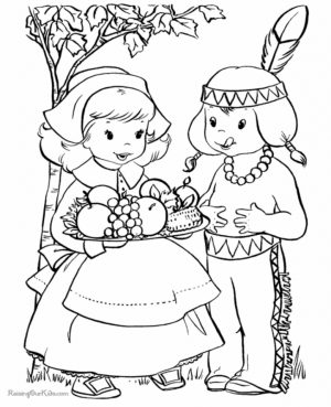Thanksgiving Coloring Book Pages for Kids   ts67d