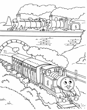 Thomas the Tank Engine Coloring Pages Free   65100