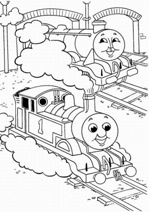 Thomas the Tank Engine Coloring Pages Free   90057