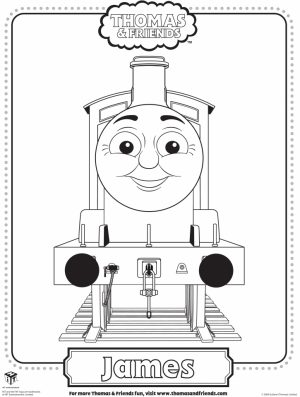 Thomas the Tank Engine Coloring Pages Free Printable   04156