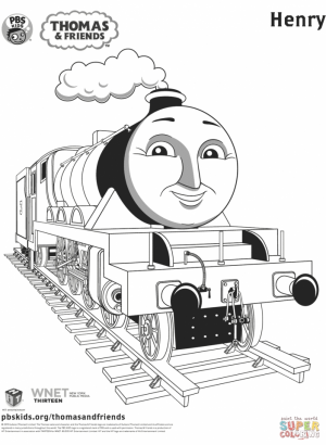 Thomas the TRain Coloring Pages Free   41775