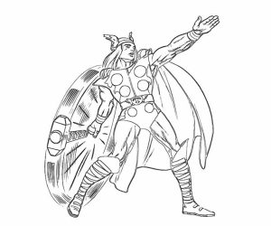 Thor Coloring Pages Free Printable   51582
