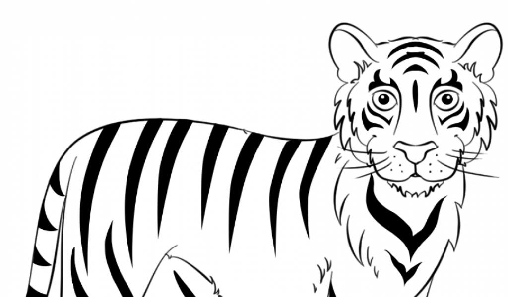 Get This Tiger Coloring Pages Printable 08315