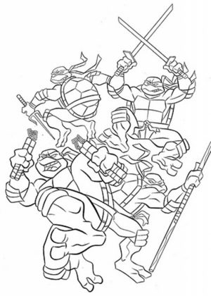 TMNT Ninja Turtles Coloring Pages Printable   38791