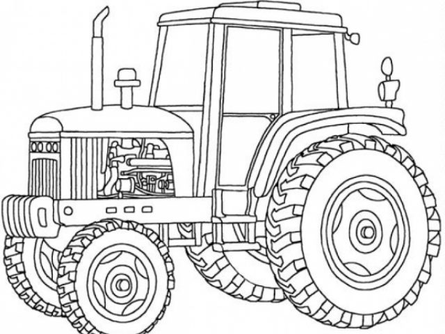 Get This Tractor Coloring Pages Free Printable 76955