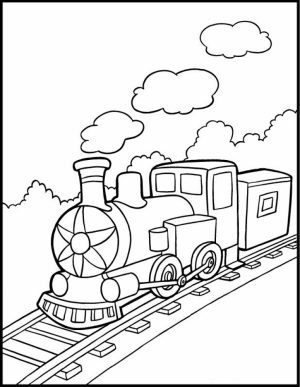 Train Coloring Pages for Kids   37985