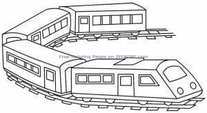Train Coloring Pages Printable for Kids   64512