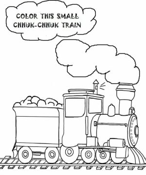Train Coloring Pages to Print Out   41558