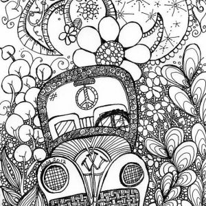 Trippy Coloring Pages for Adults   AJ21Y