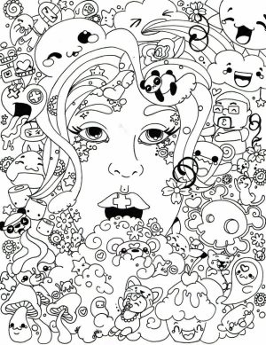 Trippy Coloring Pages for Adults   TQ83B