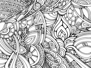 Trippy Coloring Pages for Adults   YA62B