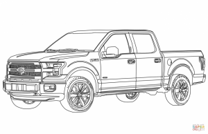 Truck Coloring Pages for Kids   41664