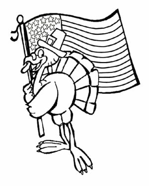 Turkey Coloring Pages Online   52415