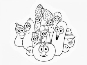 Veggie Tales Coloring Pages Free Printable   u043e